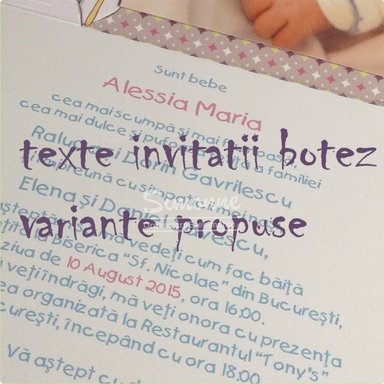 Motto Si Texte Invitatii Botez Clasice Haioase Elegante Personalizate