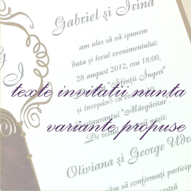 Motto Texte Invitatii Nunta Personalizate
