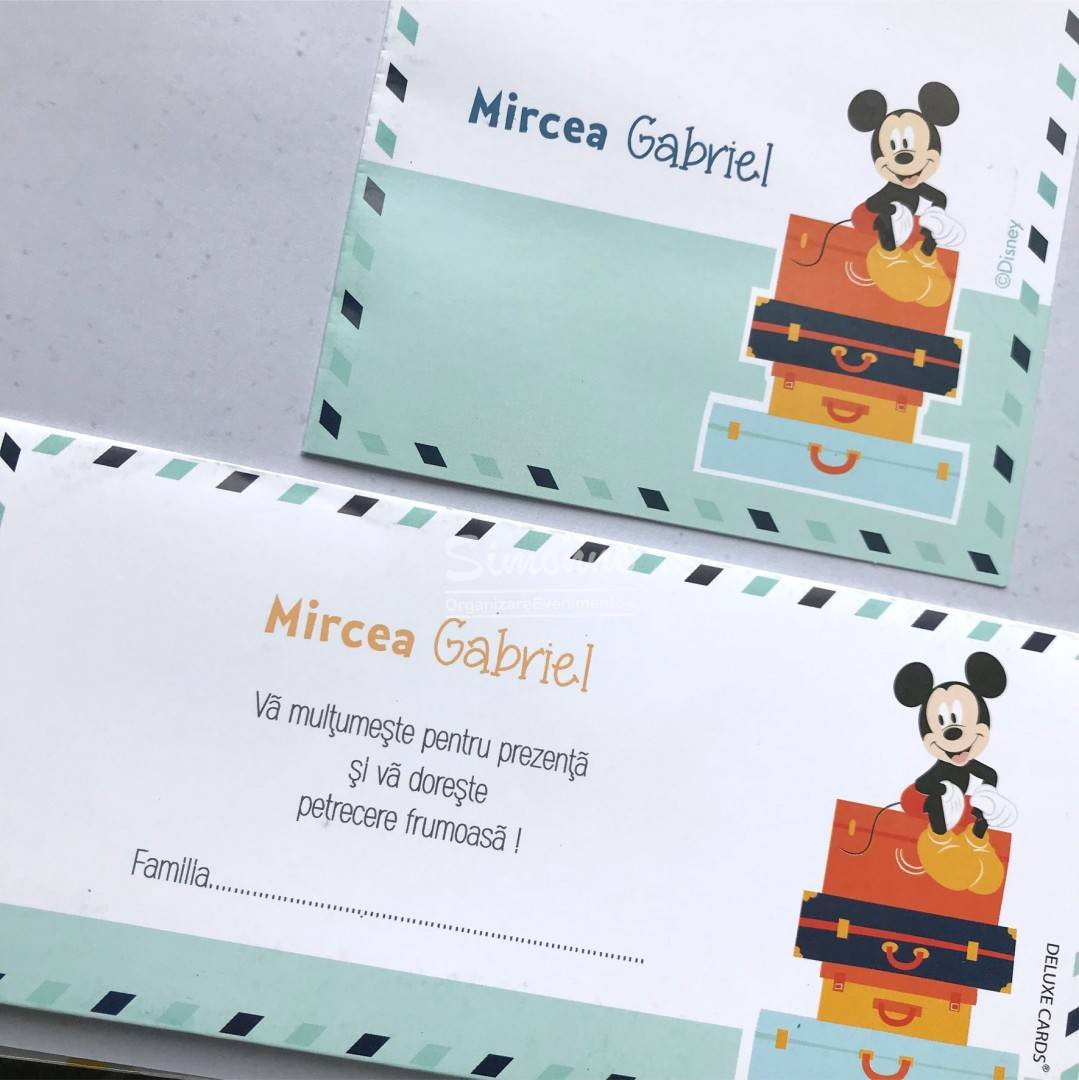 Invitatie Botez Mickeypluto In Calatorie
