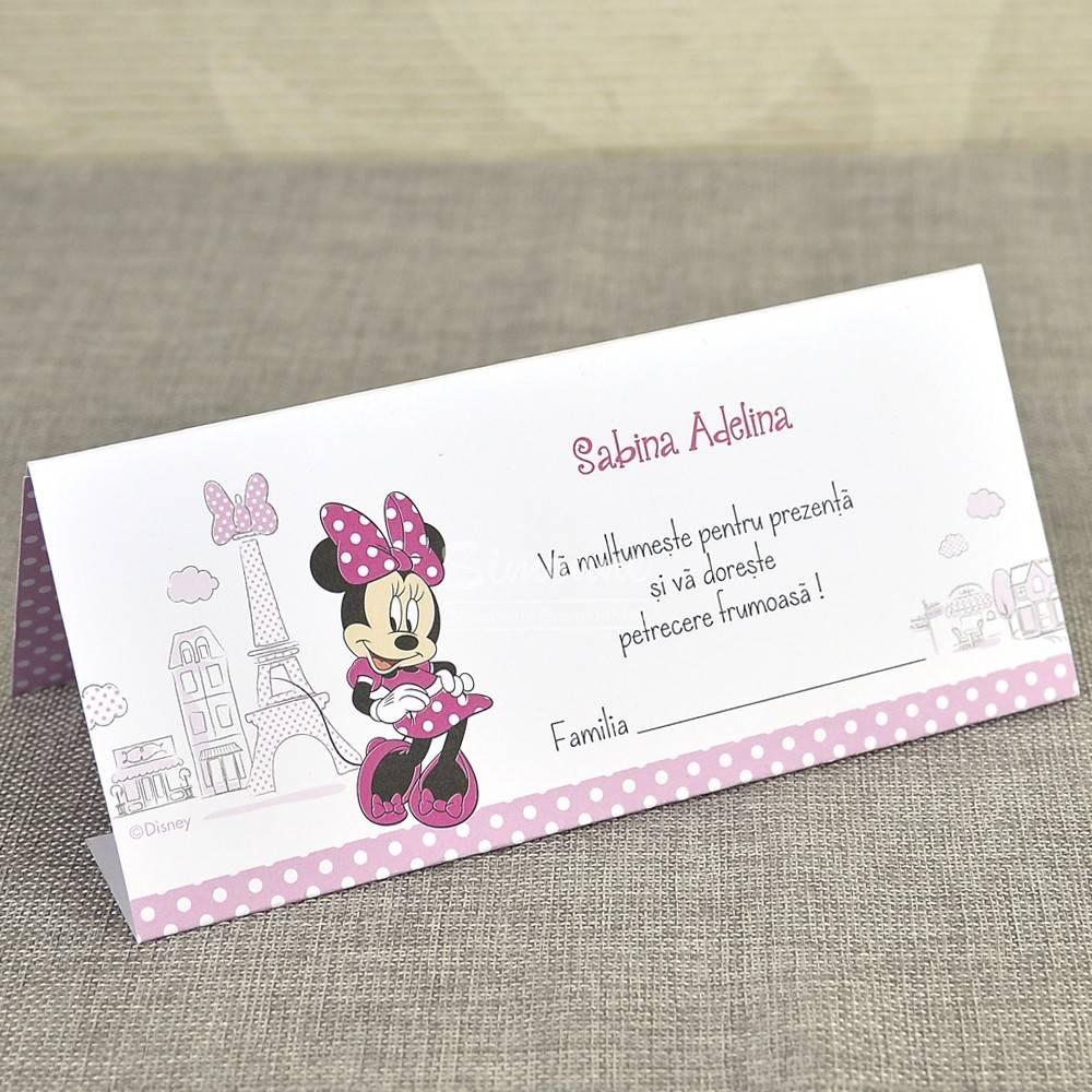 Invitatie Botez Minnie Mouse In Paris