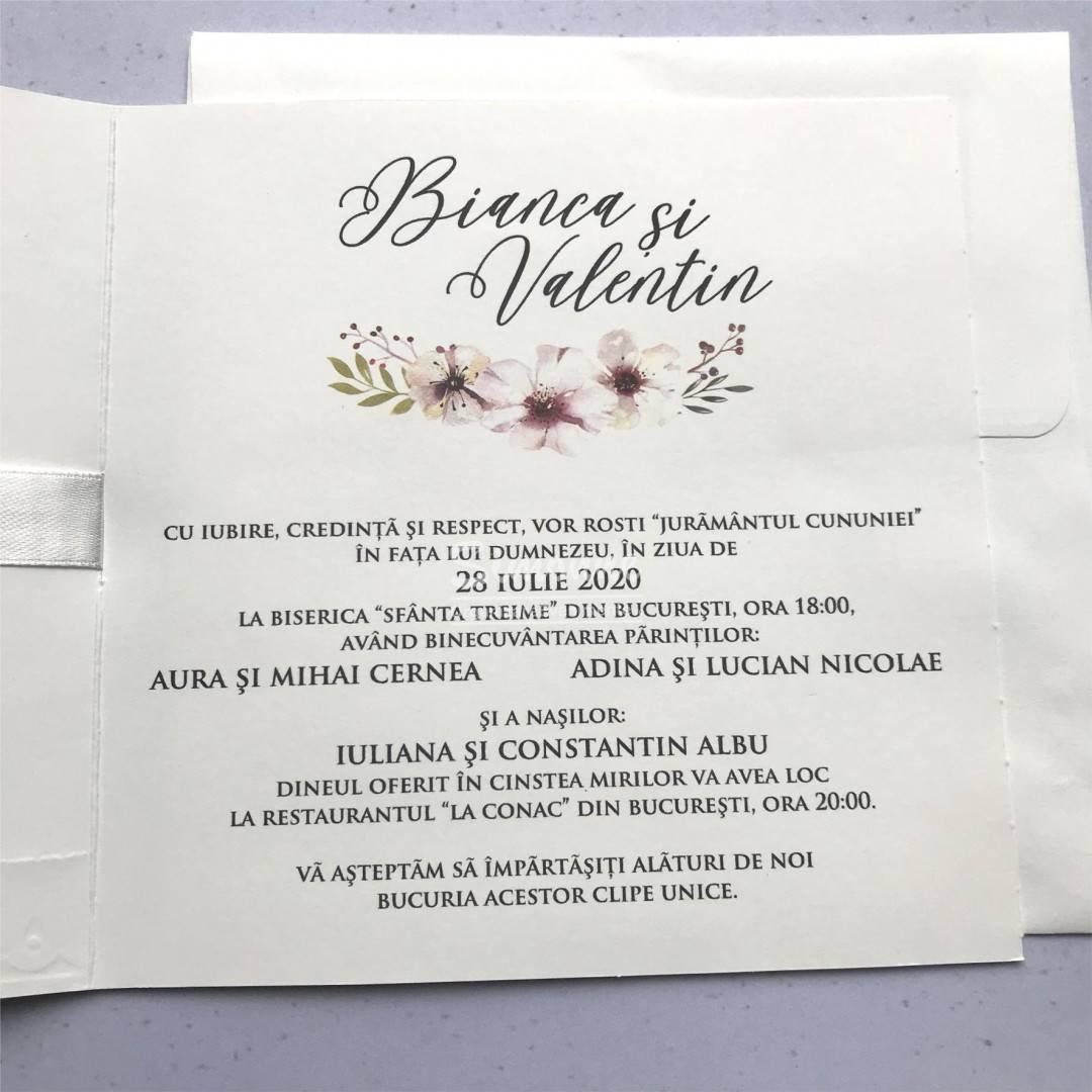 Invitatie Nunta Clasica Cu Fundita