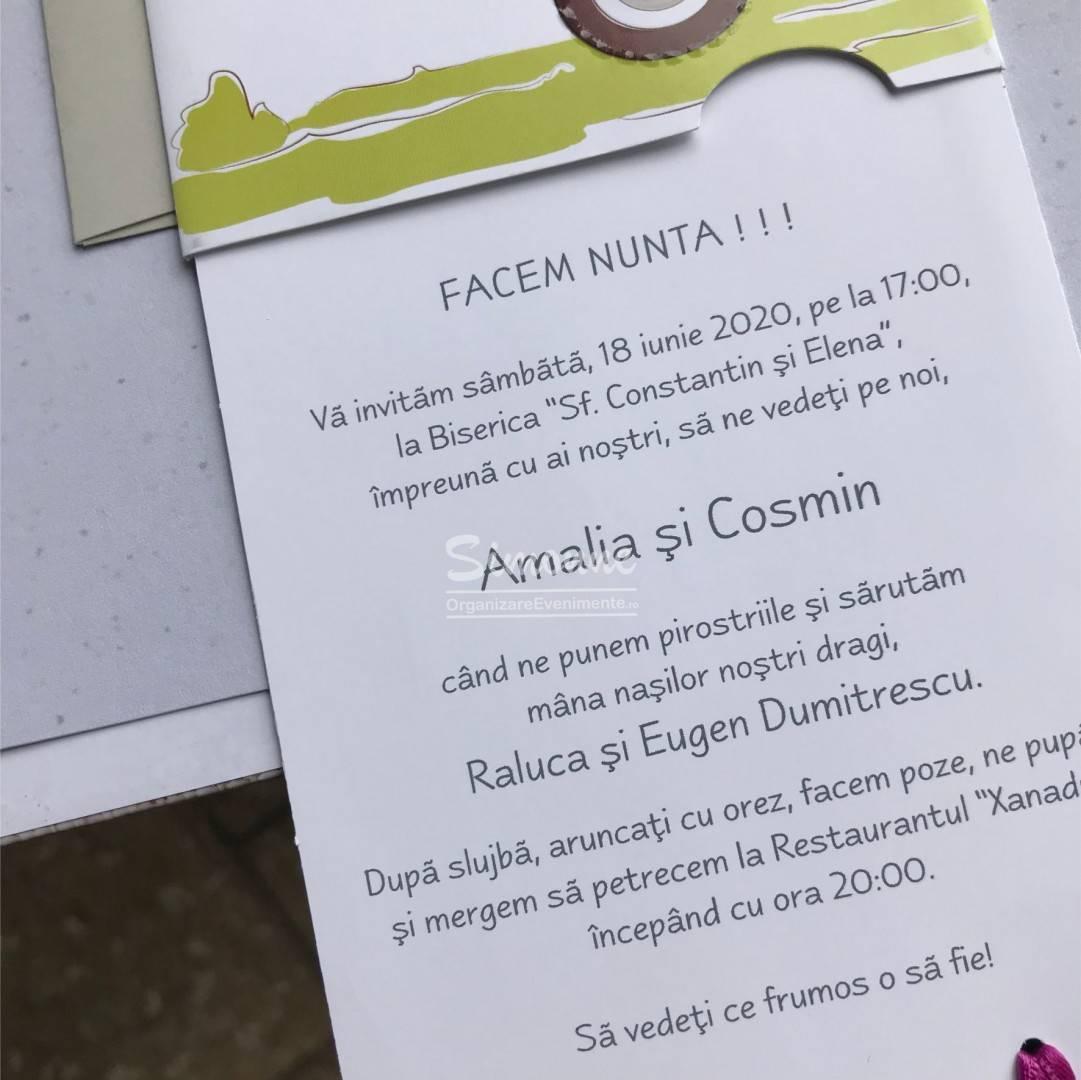 Invitatie Nunta Haioasa Cu Plic