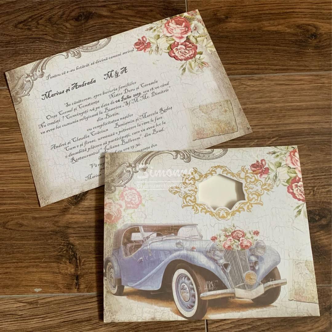 Invitatie Nunta Vintage