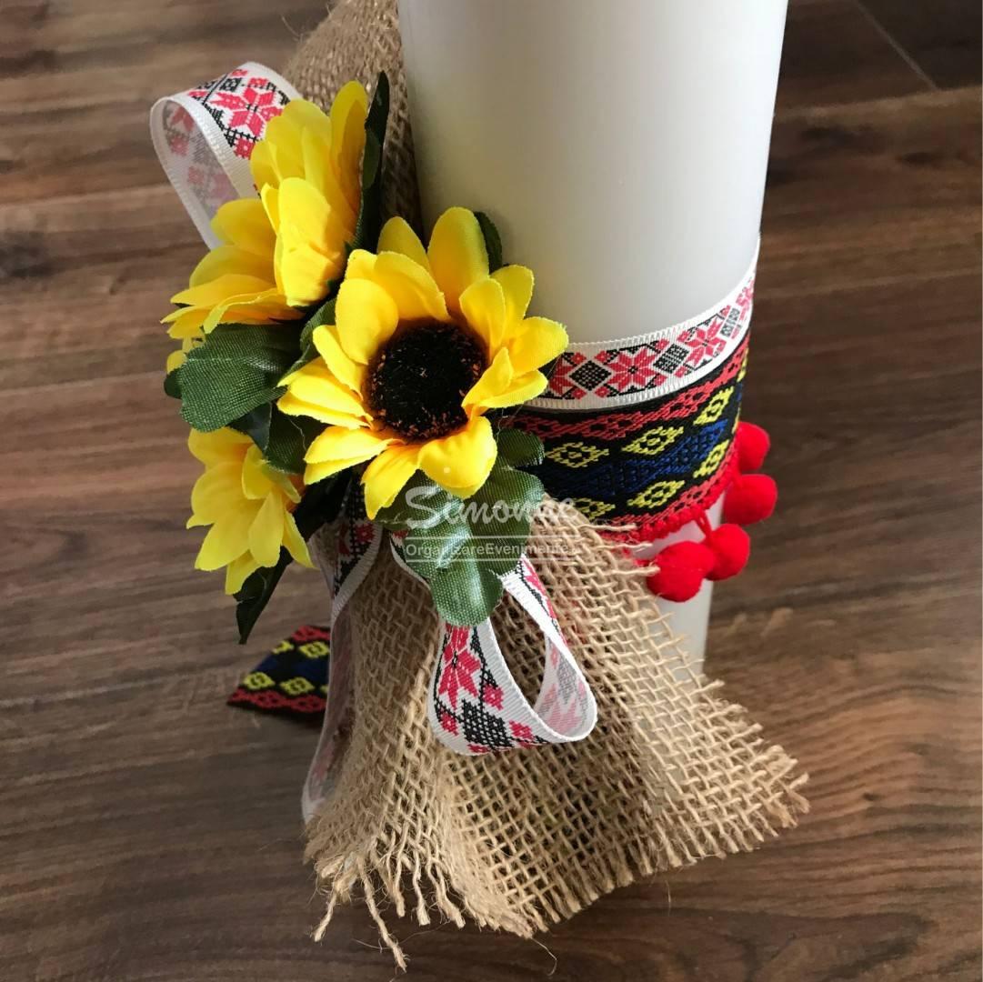 Lumanare Nunta Botez Floarea Soarelui