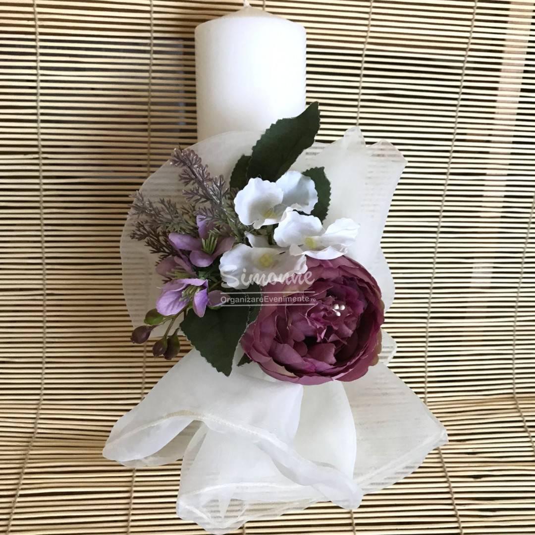 Lumanare Nunta Botez Flori Artificiale