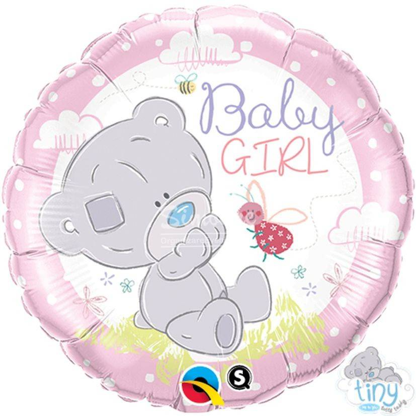 Balon folie Baby girl ursulet
