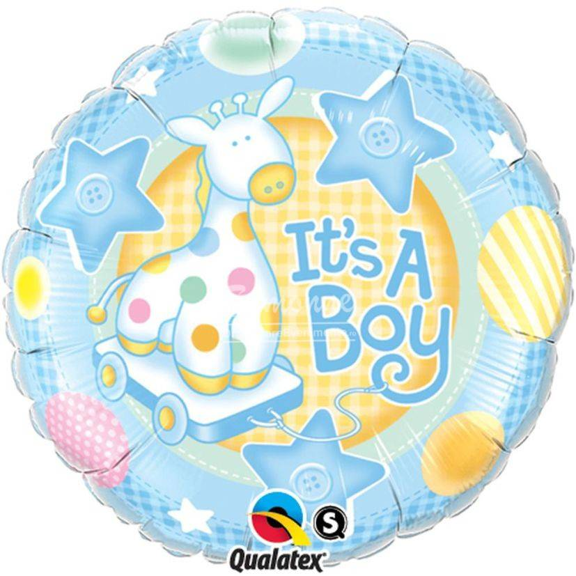 Balon Its a boy cu girafa