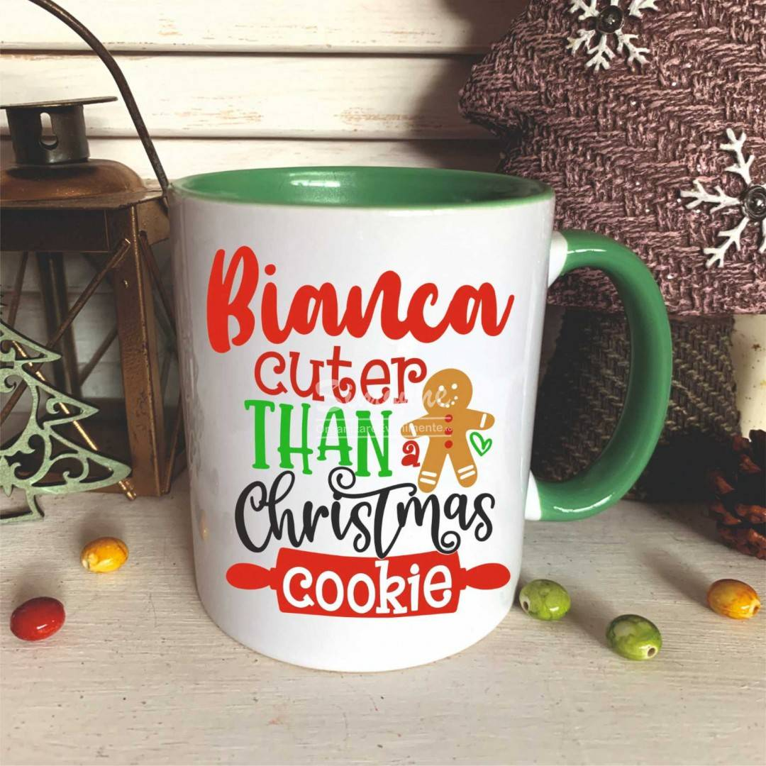 Cana personalizata, Christmas Cookie