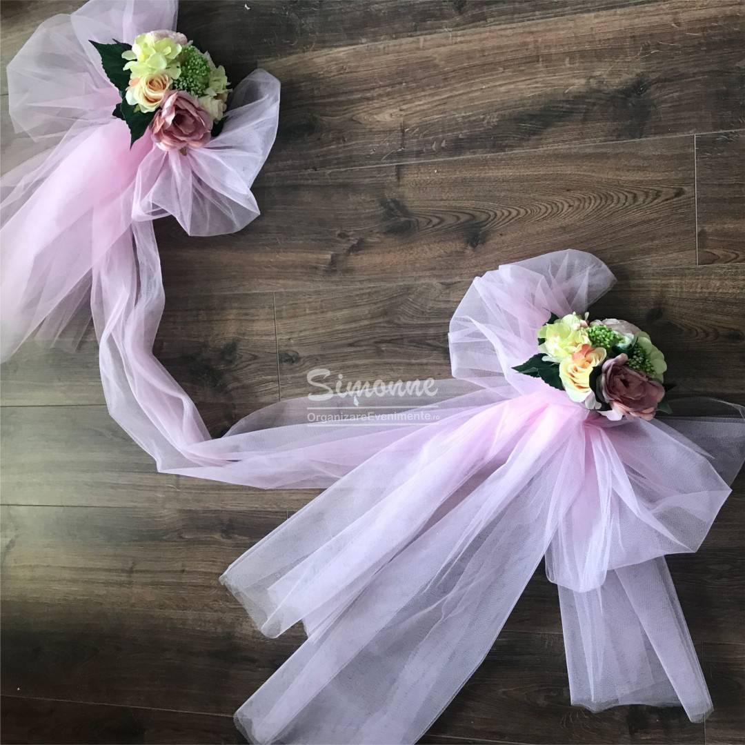 Decor cristelnita botez fetita Pink flori artificiale