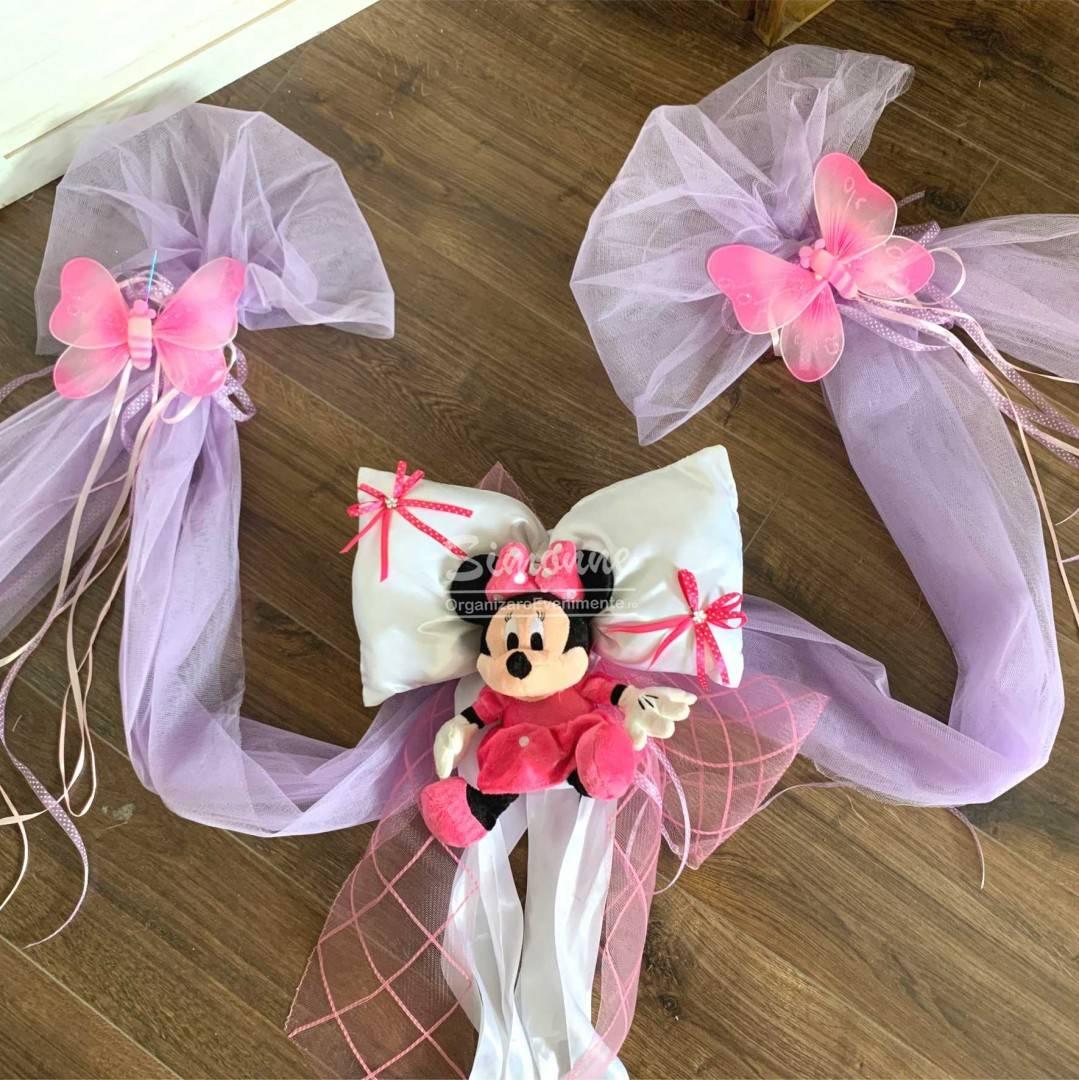 Decor cristelnita Minnie Mouse si fluturasi