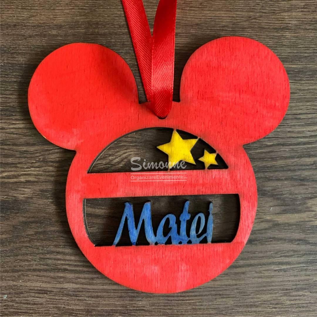 Decoratiune Glob Mickey Mouse personalizat