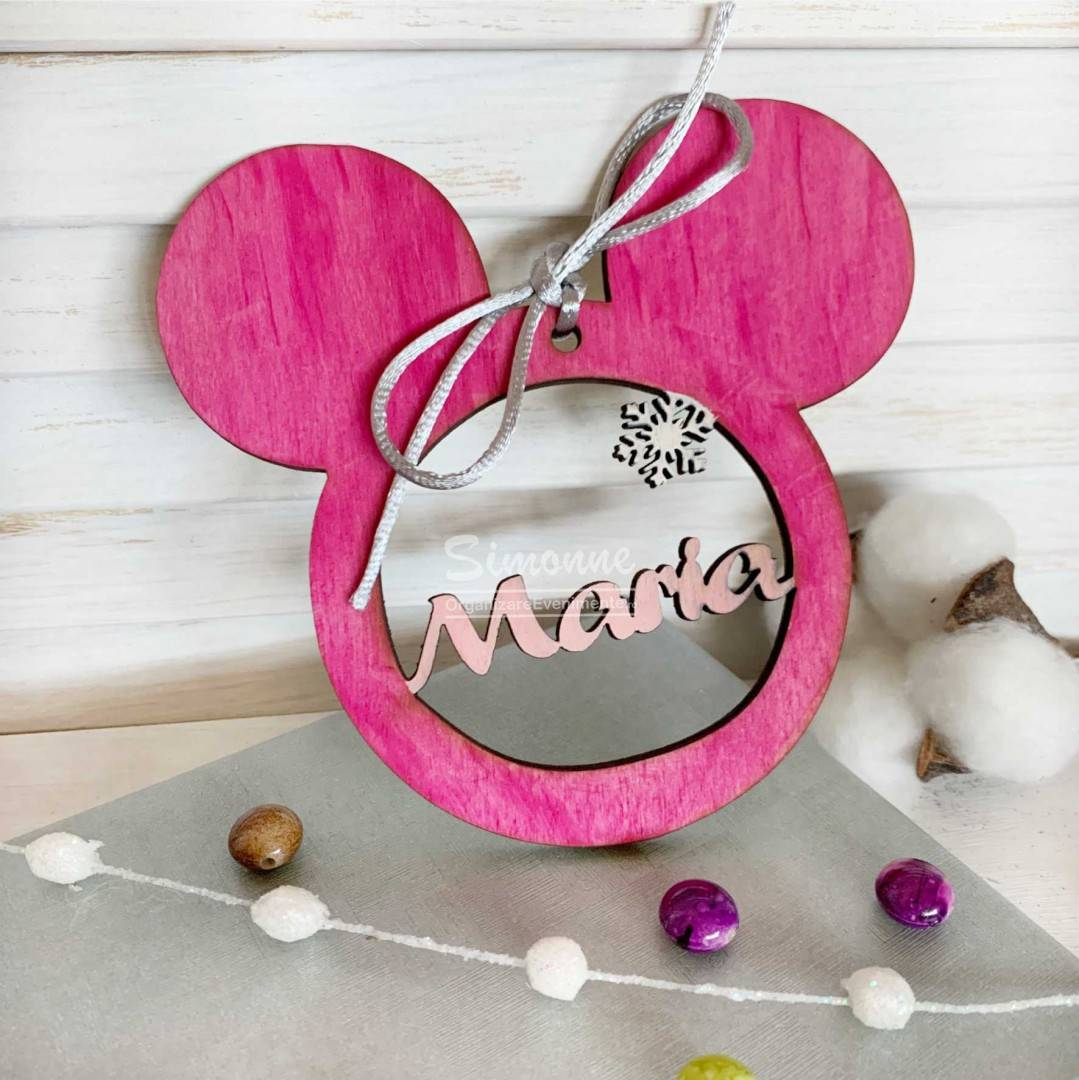 Decoratiune Glob Minnie Mouse personalizat