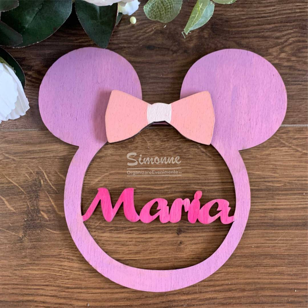Decoratiune personalizata Minnie Mouse