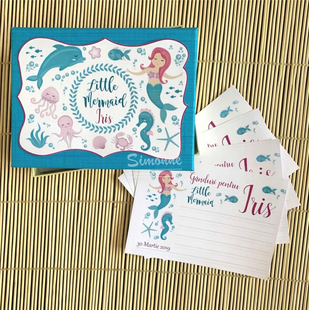 Guest book cutie amintiri personalizat Mica Sirena