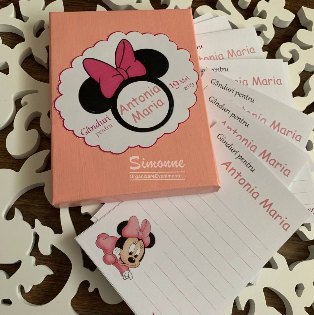 Guest book personalizat Minnie Mouse