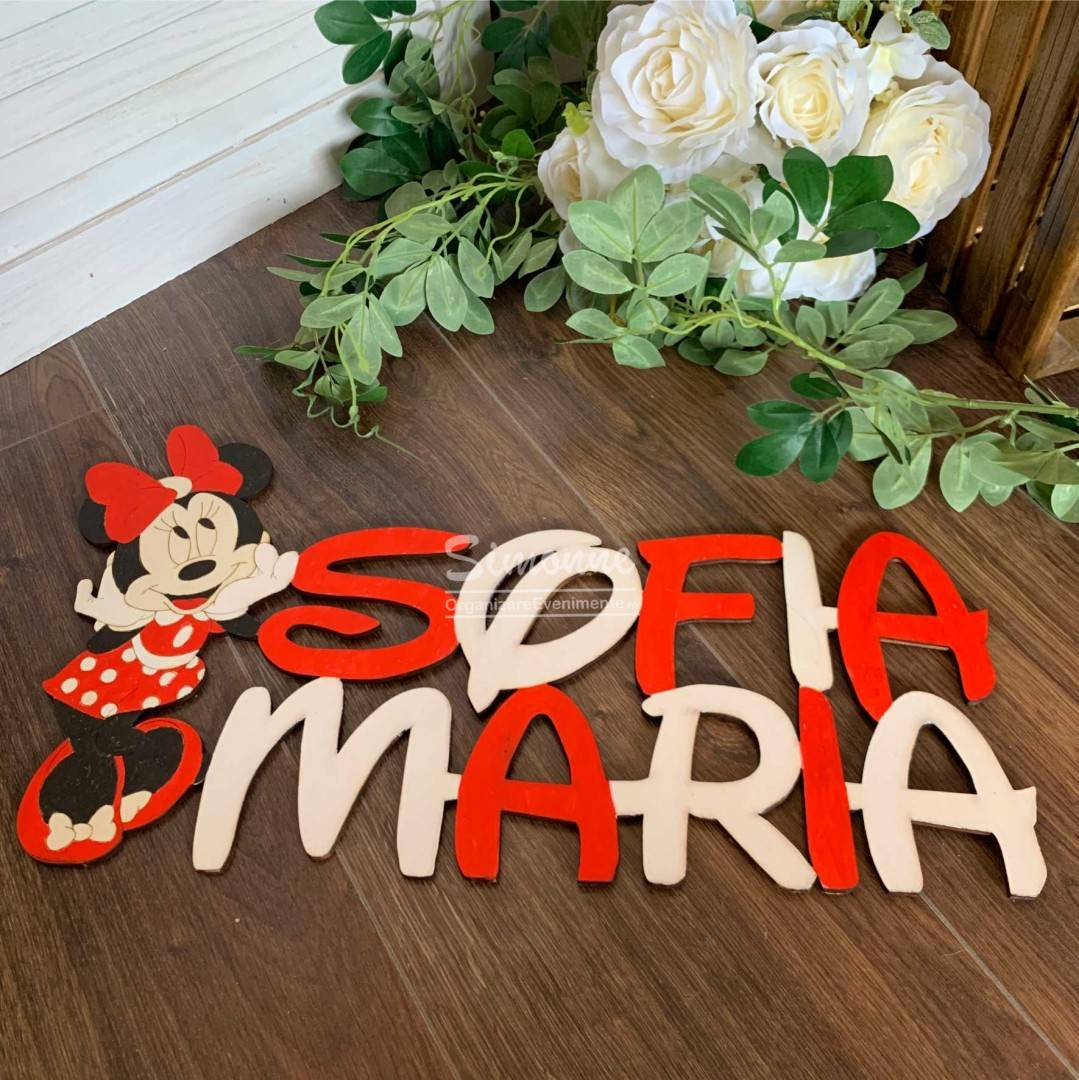 Decoratiune Minnie Mouse personalizata