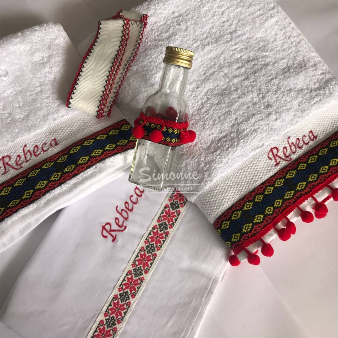 Set traditional trusou lumanare botez